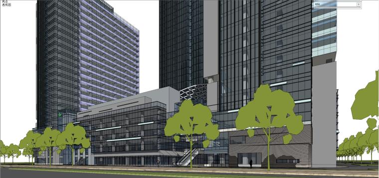 现代风格商业建筑模型设计-长沙知名地产中心 (3)