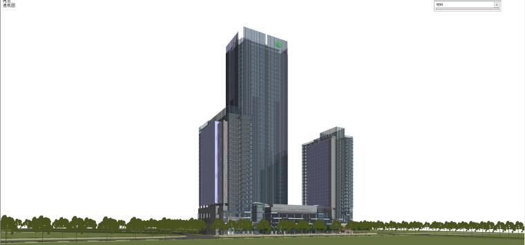现代风格商业建筑模型设计-长沙知名地产中心 (4)