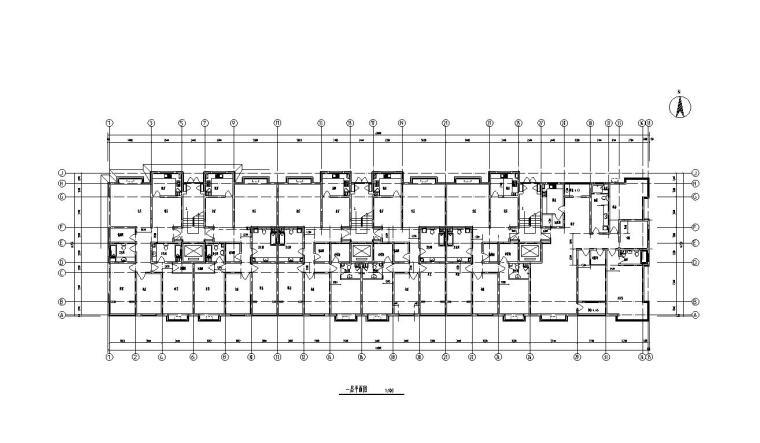 9层阁楼3单元每单元2户住宅楼设计图