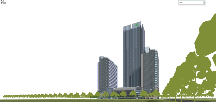 现代风格商业建筑模型设计-长沙知名地产中心 (5)