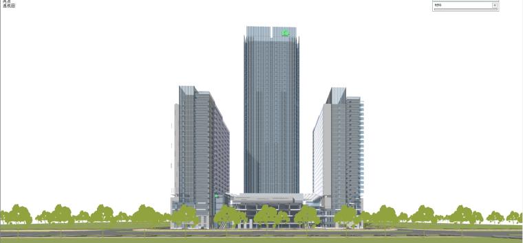 现代风格商业建筑模型设计-长沙知名地产中心 (7)