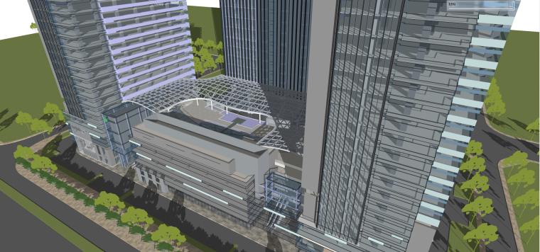 现代风格商业建筑模型设计-长沙知名地产中心 (6)