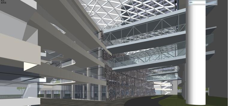 现代风格商业建筑模型设计-长沙知名地产中心 (9)