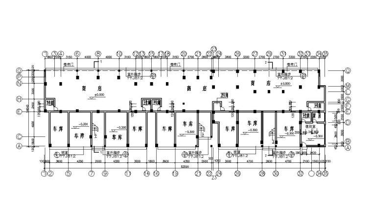 七层经典住宅三单元对称户型设计