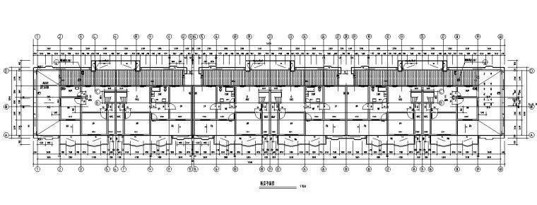 六层跃七层三单元对称户型设计图