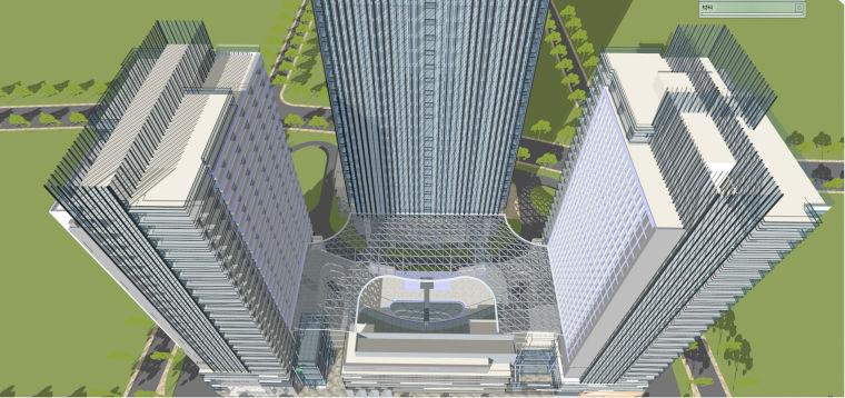 现代风格商业建筑模型设计-长沙知名地产中心 (10)