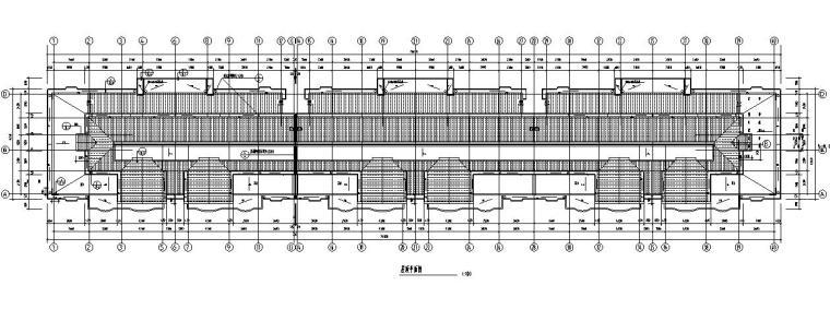 六层跃七层三单元对称户型设计图-屋顶平面图