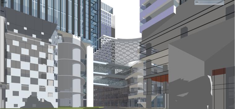 现代风格商业建筑模型设计-长沙知名地产中心 (13)