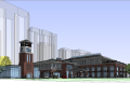 绿地老街会所建筑模型设计(简欧风格)