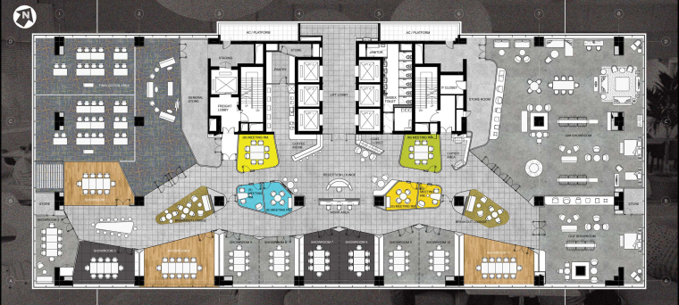 [上海]利丰广场办公室施工图+效果图+预算-0002