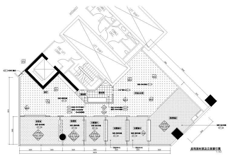 [新加坡]新加坡办事处设计施工图+效果图-地面铺装图