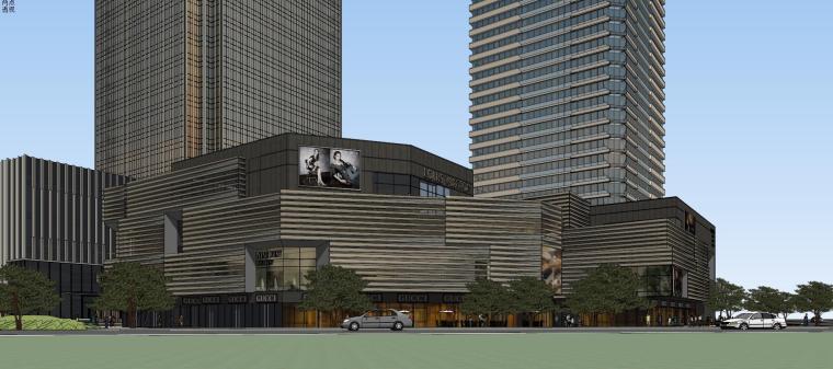 [山东]青岛现代风格商业建筑模型设计-知名地产青岛海外滩拼模 (1)