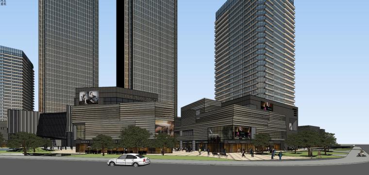 [山东]青岛现代风格商业建筑模型设计-知名地产青岛海外滩拼模 (2)
