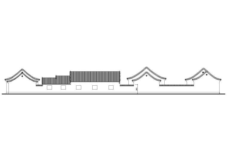 仿古四合院办公建筑施工图(CAD)