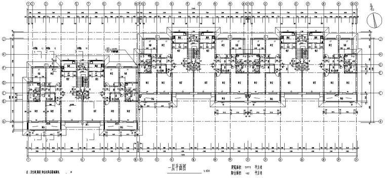 五层阁楼三单元对称户型设计图