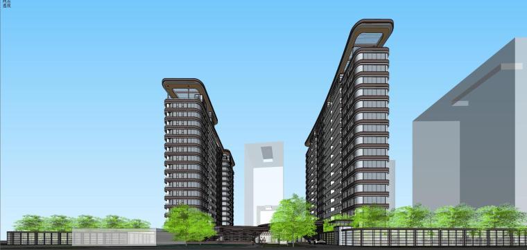 [上海]现代风格五里桥豪宅建筑模型设计-上海知名地产五里桥豪宅 天华 (2)