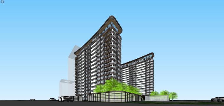[上海]现代风格五里桥豪宅建筑模型设计-上海知名地产五里桥豪宅 天华 (1)