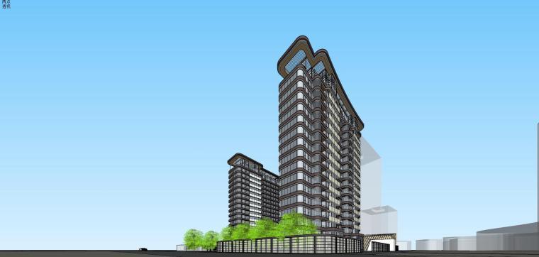 [上海]现代风格五里桥豪宅建筑模型设计-上海知名地产五里桥豪宅 天华 (3)