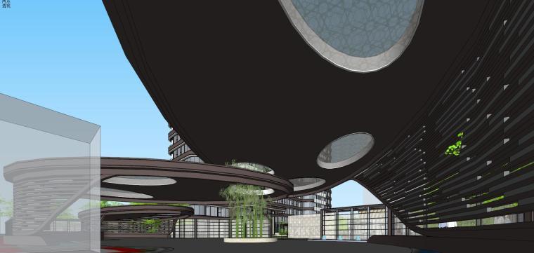 [上海]现代风格五里桥豪宅建筑模型设计-上海知名地产五里桥豪宅 天华 (4)