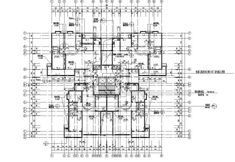 28层1楼梯2电梯4户点式住宅楼设计图