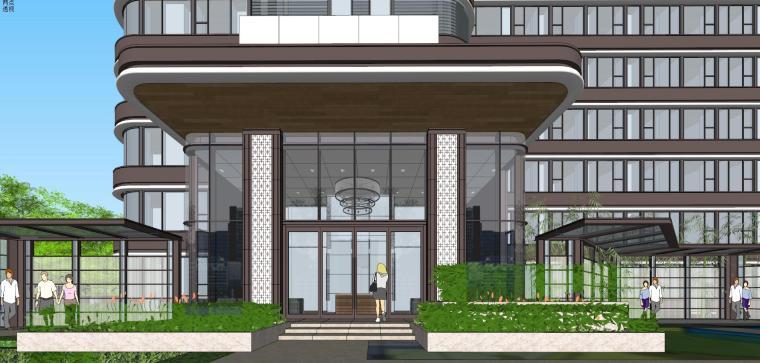 [上海]现代风格五里桥豪宅建筑模型设计-上海知名地产五里桥豪宅 天华 (8)