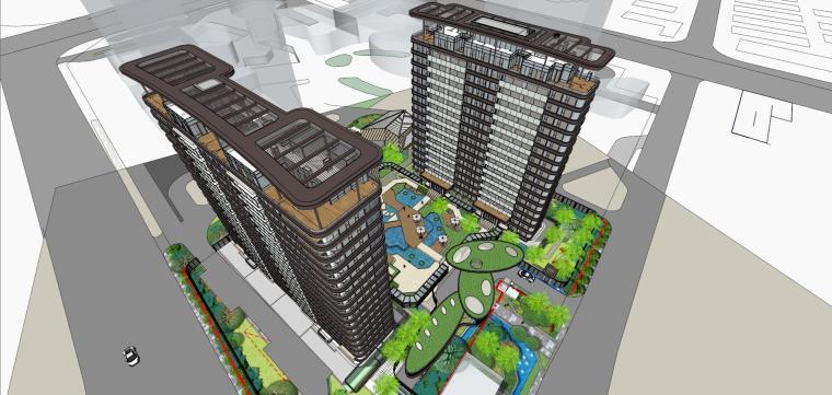 [上海]现代风格五里桥豪宅建筑模型设计-上海知名地产五里桥豪宅 天华 (11)