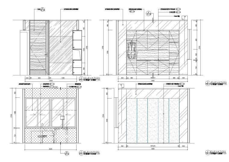 [新加坡]新加坡办事处设计施工图+效果图-立面图