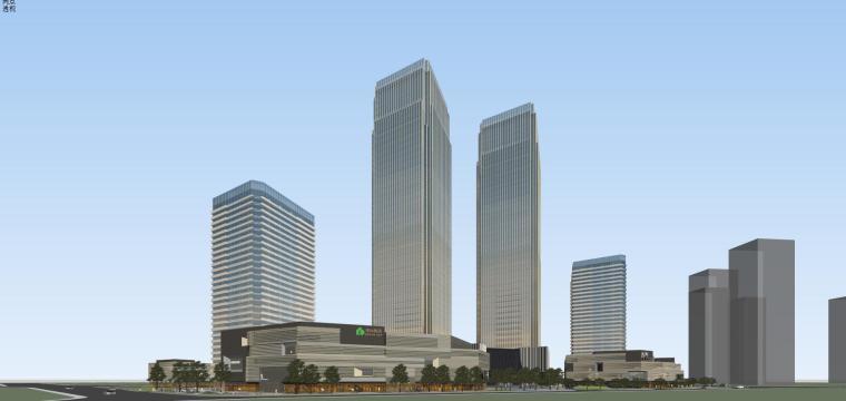 [山东]青岛现代风格商业建筑模型设计-知名地产青岛海外滩拼模 (4)