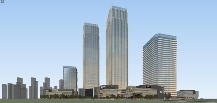 [山东]青岛现代风格商业建筑模型设计-知名地产青岛海外滩拼模 (3)