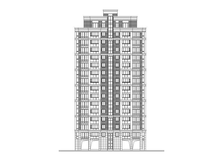 高层一梯两户紫桂苑4号住宅楼建筑施工图
