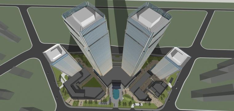 [山东]青岛现代风格商业建筑模型设计-知名地产青岛海外滩拼模 (10)