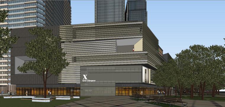 [山东]青岛现代风格商业建筑模型设计-知名地产青岛海外滩拼模 (8)