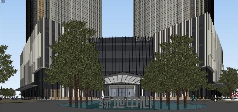 [山东]青岛现代风格商业建筑模型设计-知名地产青岛海外滩拼模 (7)