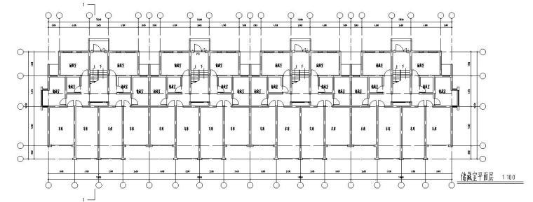 七层经典住宅四单元对称户型设计图-储藏室平面图