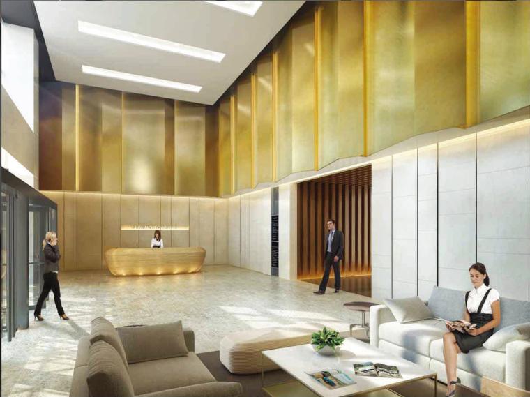 [上海]利丰广场办公室施工图+效果图+预算-Main Lobby Colour Rendering-3