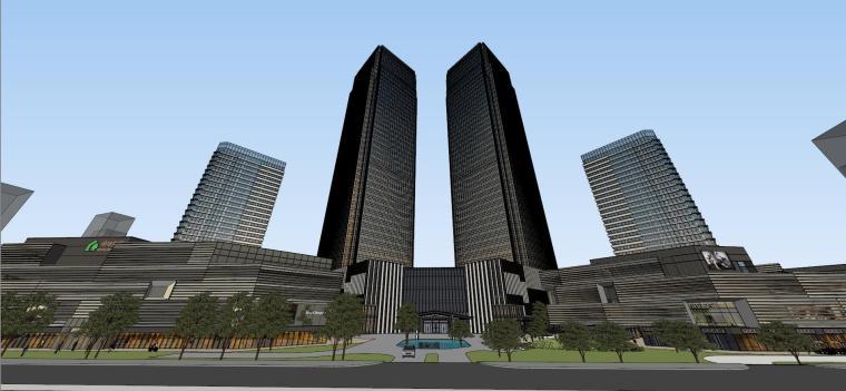 [山东]青岛现代风格商业建筑模型设计-知名地产青岛海外滩拼模 (12)