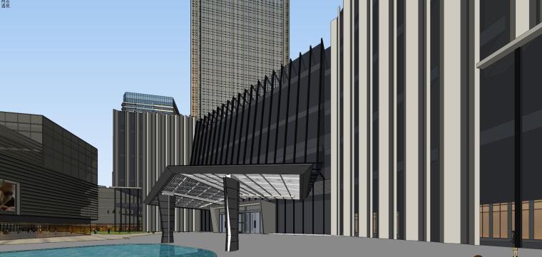 [山东]青岛现代风格商业建筑模型设计-知名地产青岛海外滩拼模 (13)