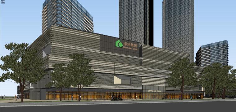 [山东]青岛现代风格商业建筑模型设计-知名地产青岛海外滩拼模 (17)