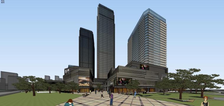 [山东]青岛现代风格商业建筑模型设计-知名地产青岛海外滩拼模 (14)