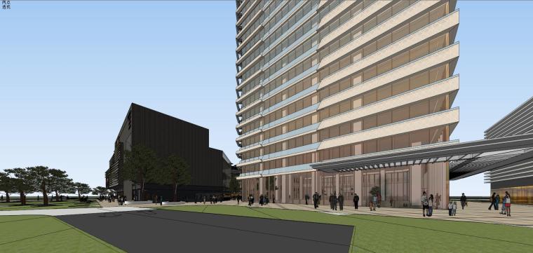 [山东]青岛现代风格商业建筑模型设计-知名地产青岛海外滩拼模 (15)