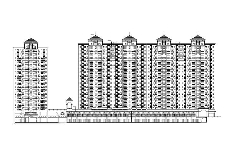 [江苏]南京某小区内商业街建筑施工图