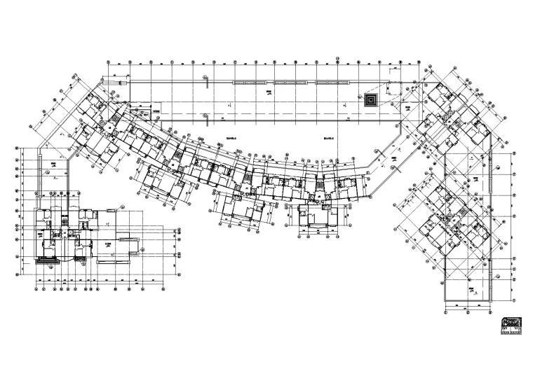 [江苏]南京某小区内商业街建筑施工图-03商业街A栋二层平面图