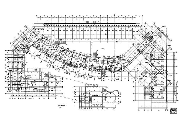 [江苏]南京某小区内商业街建筑施工图-02商业街A栋一层平面图