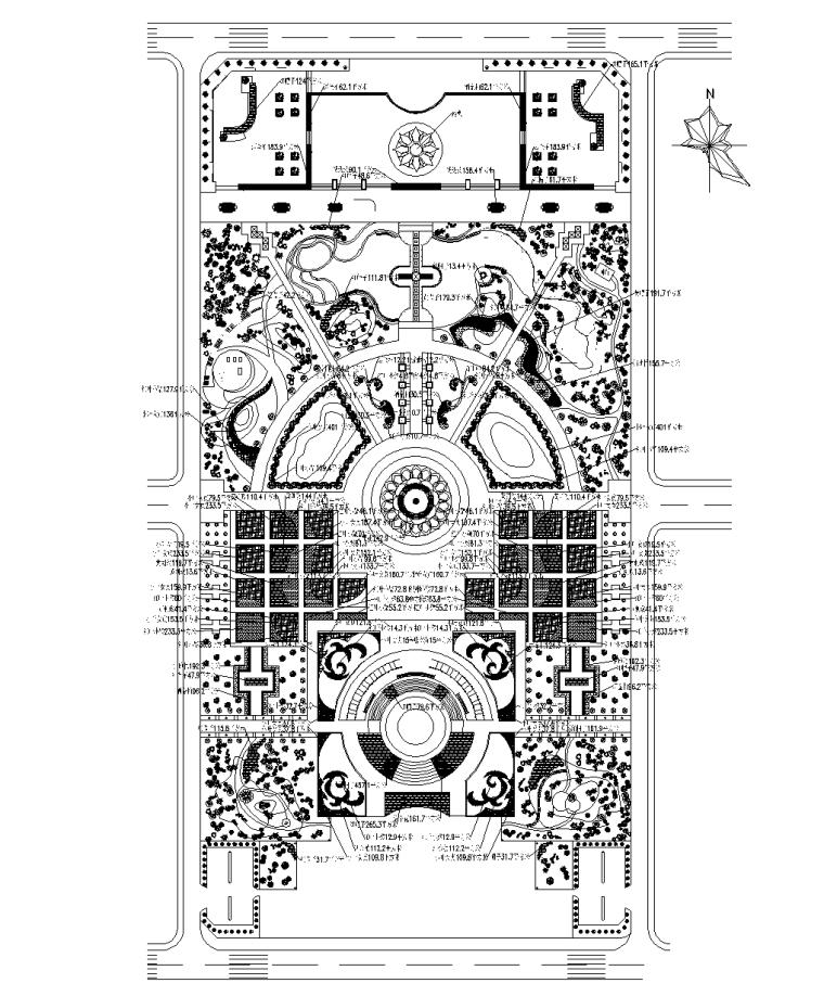 4套植物配置种植CAD平面图
