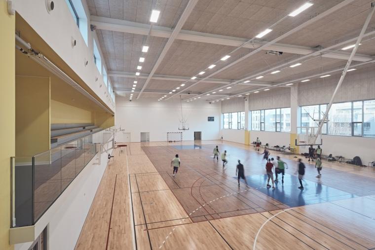 法国EspacePompidouGymnasium健身房-Enia_architectes-Espace_Pompidou_-_Courbevoie-Epaillard_Machado_6_ArchDaily