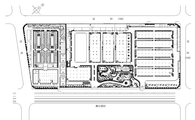 4套植物配置种植CAD平面图-植物总平面图 3_看图王