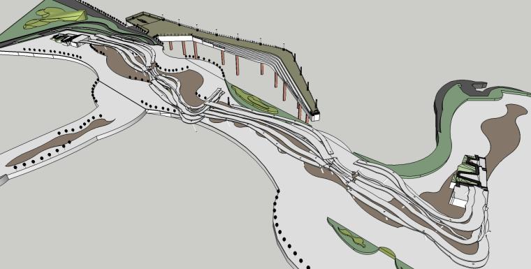 滨海景观概念设计SU模型