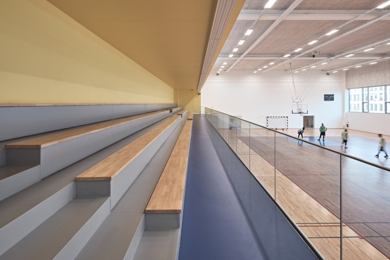 法国EspacePompidouGymnasium健身房-Enia_architectes-Espace_Pompidou_-_Courbevoie-Epaillard_Machado_7_ArchDaily