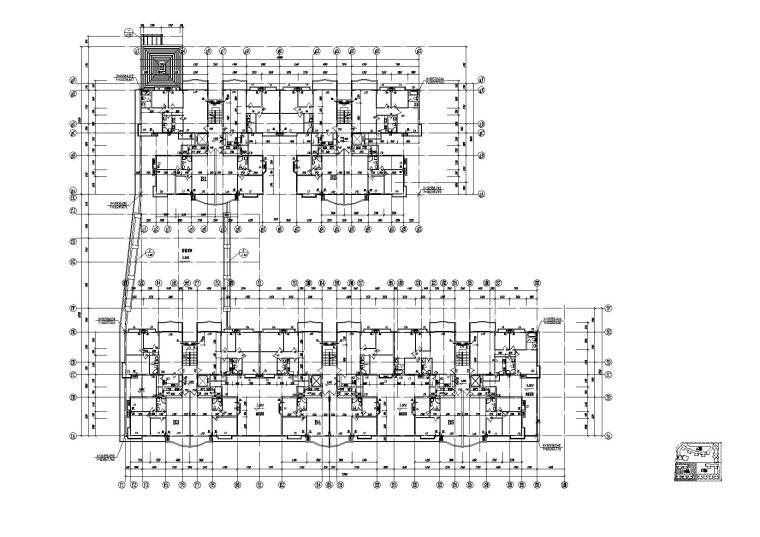 [江苏]南京某小区内商业街建筑施工图-08商业街B栋一层平面图