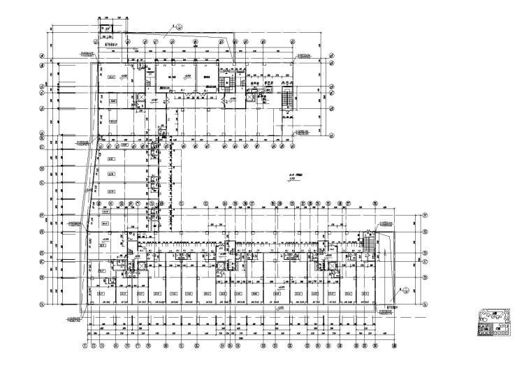 [江苏]南京某小区内商业街建筑施工图-07商业街B栋一层平面图